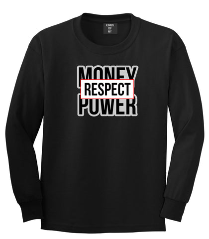 Money Power Respect Long Sleeve T-Shirt in Black By Kings Of NY
