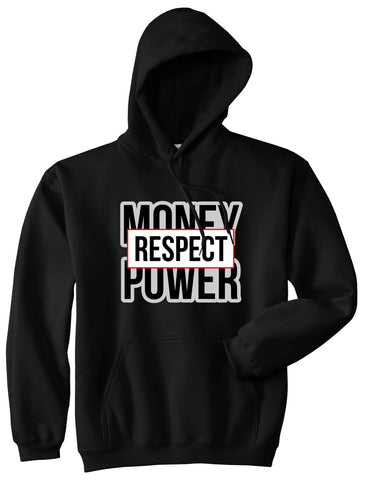 Money Power Respect Pullover Hoodie in Black By Kings Of NY