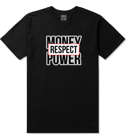 Money Power Respect T-Shirt in Black By Kings Of NY