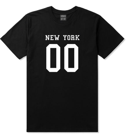 New York Team 00 Jersey T-Shirt in Black By Kings Of NY