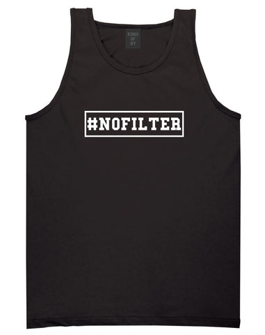 No Filter Selfie Tank Top in Black By Kings Of NY