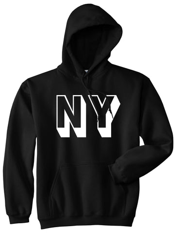 NY Block Letter New York Pullover Hoodie in Black By Kings Of NY