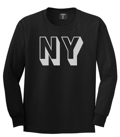 NY Block Letter New York Long Sleeve T-Shirt in Black By Kings Of NY