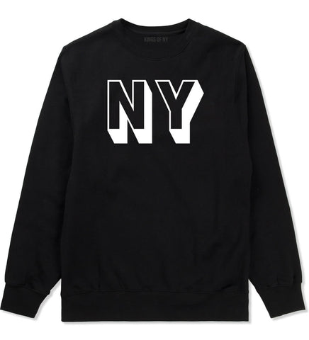 NY Block Letter New York Crewneck Sweatshirt in Black By Kings Of NY