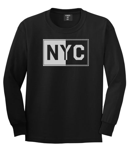 NYC Rectangle New York City Long Sleeve T-Shirt in Black By Kings Of NY