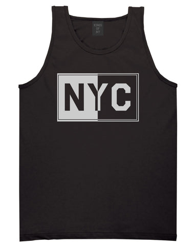 NYC Rectangle New York City Tank Top in Black By Kings Of NY