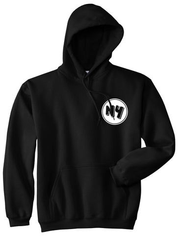 NY Circle Chest Logo Pullover Hoodie in Black By Kings Of NY