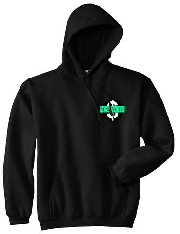 New York Mint Chest Logo Pullover Hoodie in Black By Kings Of NY