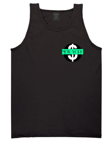 New York Mint Chest Logo Tank Top in Black By Kings Of NY