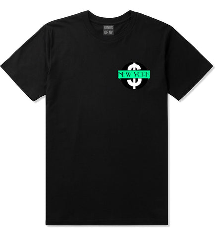 New York Mint Chest Logo T-Shirt in Black By Kings Of NY