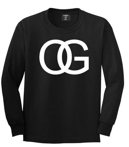 OG Original Gangsta Gangster Style Green Long Sleeve T-Shirt In Black by Kings Of NY