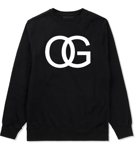 OG Original Gangsta Gangster Style Green Boys Kids Crewneck Sweatshirt In Black by Kings Of NY