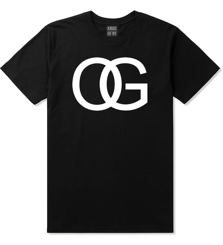 OG Original Gangsta Gangster Style Green Boys Kids T-Shirt In Black by Kings Of NY