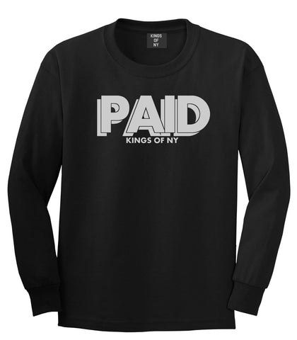 PAID Kings Of NY W15 Long Sleeve T-Shirt in Black By Kings Of NY