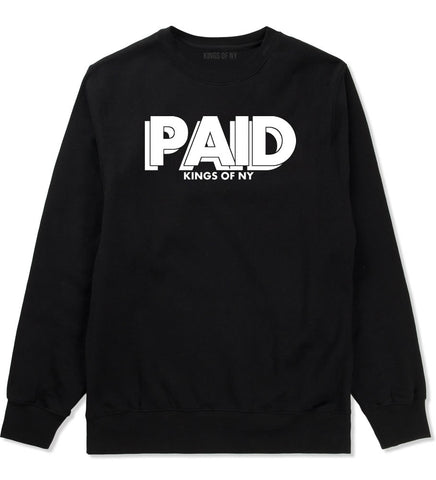 PAID Kings Of NY W15 Crewneck Sweatshirt in Black By Kings Of NY
