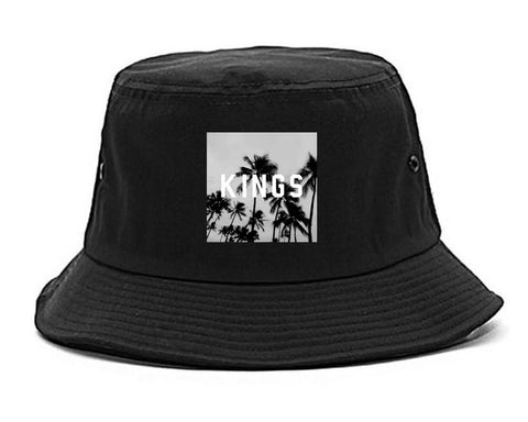 Kings Palm Trees Logo Bucket Hat By Kings Of NY