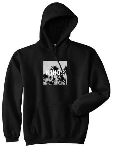 Kings Palm Trees Logo Pullover Hoodie in Black By Kings Of NY