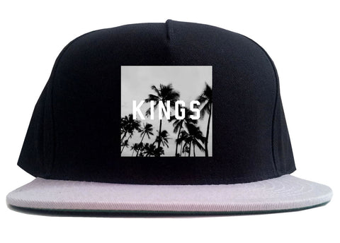 Kings Palm Trees Logo 2 Tone Snapback Hat By Kings Of NY