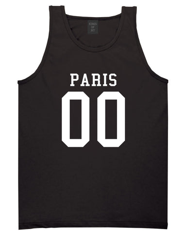 Paris Team 00 Jersey Tank Top in Black By Kings Of NY
