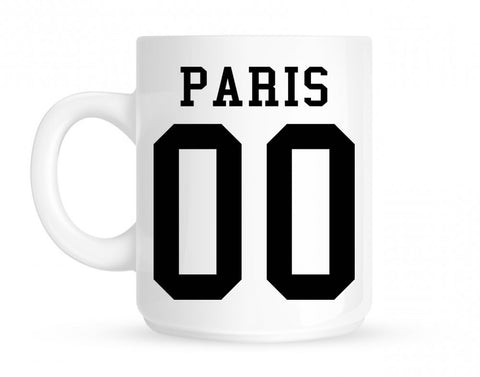 Paris Team 00 Jersey Mug By Kings Of NY