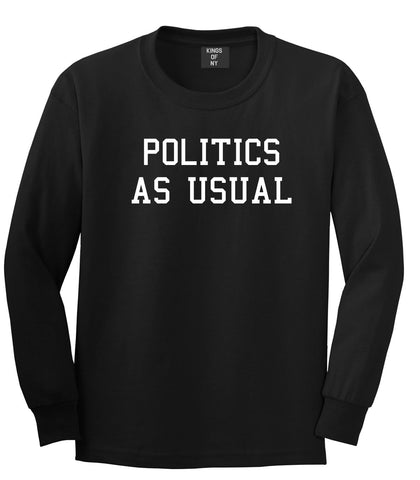 Politics As Usual Hiphop Lyrics Jay 23 Z Old School Long Sleeve T-Shirt In Black by Kings Of NY