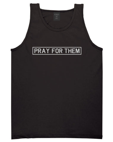Pray For Them Fall15 Tank Top in Black by Kings Of NY