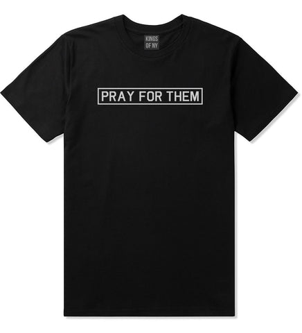 Pray For Them Fall15 T-Shirt in Black by Kings Of NY