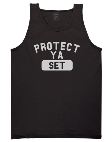 Protect Ya Set Neck Tank Top in Black By Kings Of NY