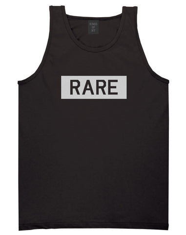 Rare College Block Tank Top in Black by Kings Of NY
