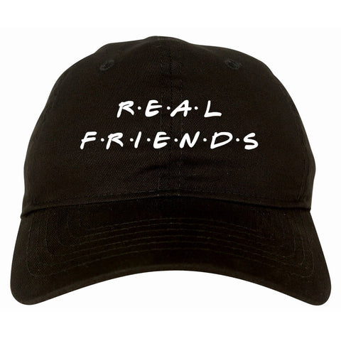 Real Friends Dad Hat Cap in Black