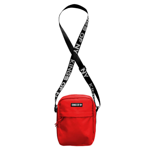 Red Logo Mens Small Crossbody Sling Bag by KINGS OF NY