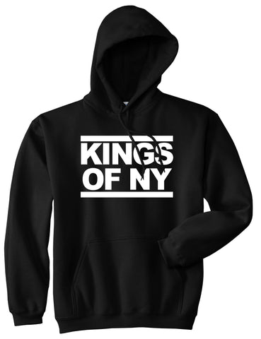 Kings Of NY Run DMC Logo Style Pullover Hoodie in Black By Kings Of NY