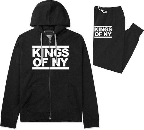 Kings Of NY Run DMC Logo Style Premium Sweatsuit in Black By Kings Of NY