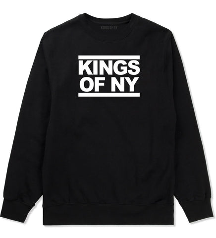 Kings Of NY Run DMC Logo Style Crewneck Sweatshirt in Black By Kings Of NY