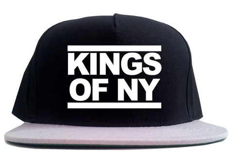 Kings Of NY Run DMC Logo Style 2 Tone Snapback Hat By Kings Of NY
