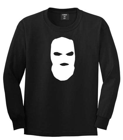 Ski Mask Way Robber Long Sleeve T-Shirt in Black By Kings Of NY