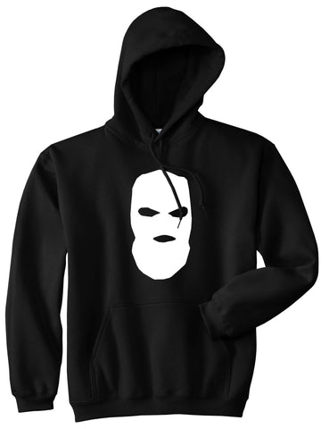 Ski Mask Way Robber Pullover Hoodie in Black By Kings Of NY
