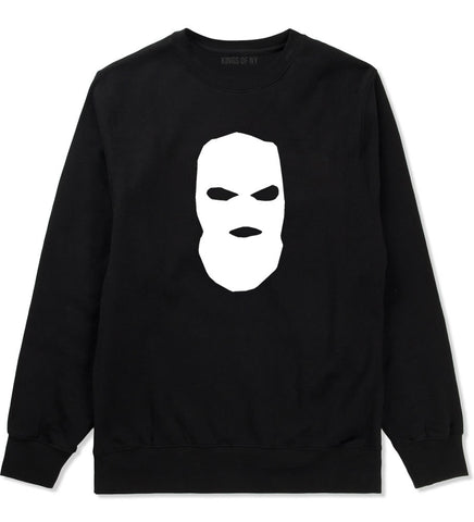 Ski Mask Way Robber Crewneck Sweatshirt in Black By Kings Of NY