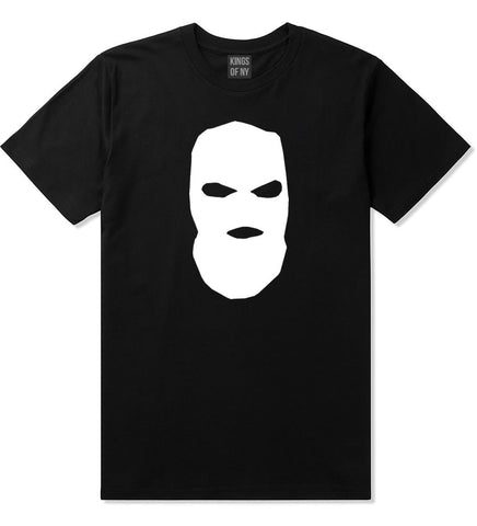Ski Mask Way Robber Boys Kids T-Shirt in Black By Kings Of NY