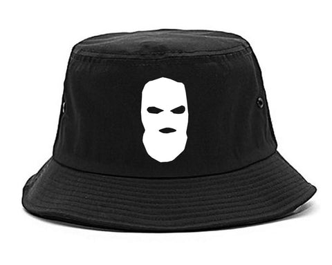 Ski Mask Way Robber Chest Logo Bucket Hat By Kings Of NY
