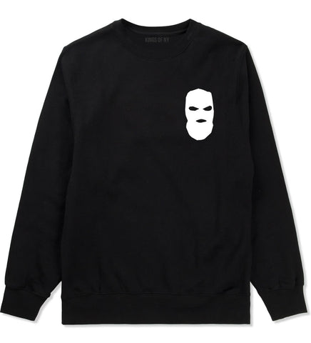 Ski Mask Way Robber Chest Logo Crewneck Sweatshirt in Black By Kings Of NY