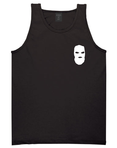 Ski Mask Way Robber Chest Logo Tank Top in Black By Kings Of NY