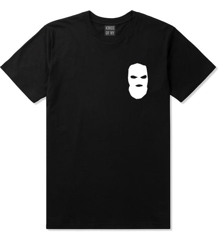 Ski Mask Way Robber Chest Logo T-Shirt in Black By Kings Of NY