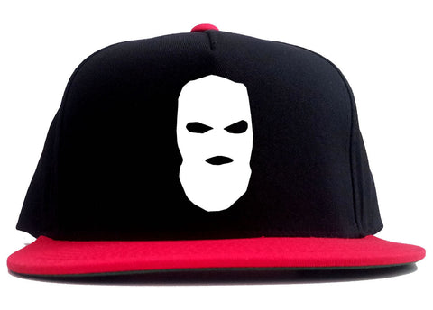 babbc8fe517 Ski Mask Way Robber Chest Logo 2 Tone Snapback Hat by Kings Of NY ...