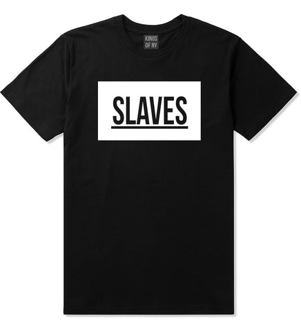 Slaves Fashion Kanye Lyrics Music West East T-Shirt In Black by Kings Of NY