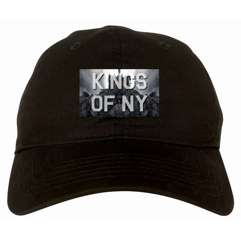 Smoke Cloud End Of Days Kings Of NY Logo Dad Hat in Black By Kings Of NY
