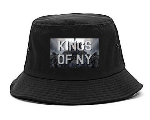 Smoke Cloud End Of Days Kings Of NY Logo Bucket Hat in Black By Kings Of NY