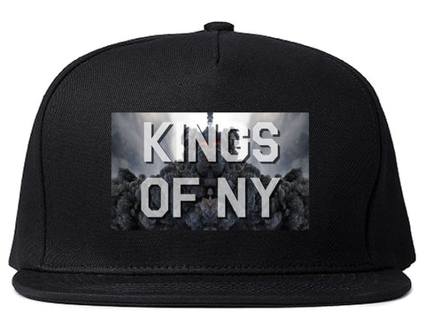 Smoke Cloud End Of Days Kings Of NY Logo Snapback Hat in Black By Kings Of NY