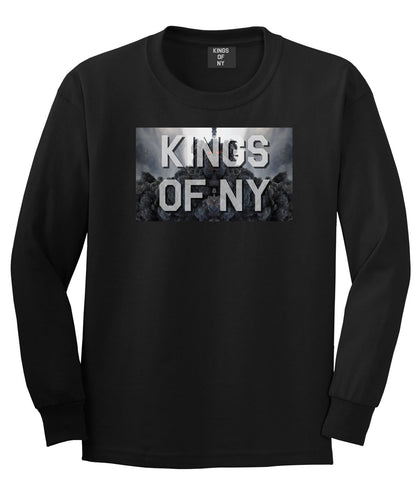 Smoke Cloud End Of Days Kings Of NY Logo Long Sleeve T-Shirt in Black By Kings Of NY