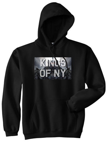 Smoke Cloud End Of Days Kings Of NY Logo Pullover Hoodie in Black By Kings Of NY